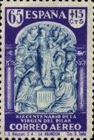 [Airmail - The 1900th Anniversary of the Appearance of the Virgin of Pillar, Sarragosa, type LU]