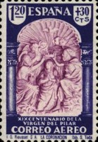 [Airmail - The 1900th Anniversary of the Appearance of the Virgin of Pillar, Sarragosa, type LV]
