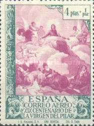 [Airmail - The 1900th Anniversary of the Appearance of the Virgin of Pillar, Sarragosa, type LW]