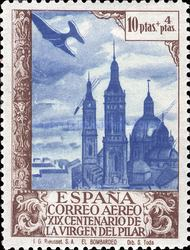 [Airmail - The 1900th Anniversary of the Appearance of the Virgin of Pillar, Sarragosa, type LX]