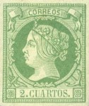 [Queen Isabella II - Colored Paper, type O]