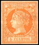 [Queen Isabella II - Colored Paper, type O1]