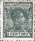 [King Alfonso XIII - Blue Control Number on Back Side, Typ F]