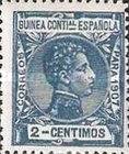 [King Alfonso XIII - Blue Control Number on Back Side, Typ F1]