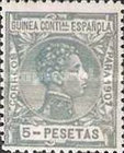 [King Alfonso XIII - Blue Control Number on Back Side, Typ F14]