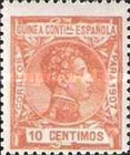 [King Alfonso XIII - Blue Control Number on Back Side, Typ F5]