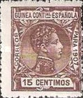 [King Alfonso XIII - Blue Control Number on Back Side, Typ F6]