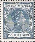 [King Alfonso XIII - Blue Control Number on Back Side, Typ F7]