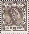 [King Alfonso XIII - Blue Control Number on Back Side, Typ F8]