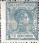 [King Alfonso XIII - Blue Control Number on Back Side, Typ F9]