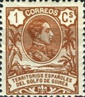 [King Alfonso XIII - Blue Control Number on Back Side, Typ I]