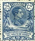 [King Alfonso XIII - Blue Control Number on Back Side, Typ I6]