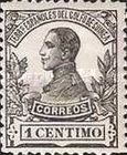 [King Alfonso XIII - Blue Control Number on Back Side, Typ L]
