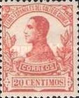[King Alfonso XIII - Blue Control Number on Back Side, Typ L5]