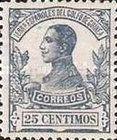 [King Alfonso XIII - Blue Control Number on Back Side, Typ L6]