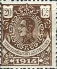 [King Alfonso XIII - Blue Control Number on Back Side, Typ M5]