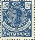 [King Alfonso XIII - Blue Control Number on Back Side, Typ M6]
