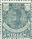 [King Alfonso XIII - Blue Control Number on Back Side, Typ M8]