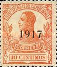 [King Alfonso XIII Stamps of 1912 Overprinted