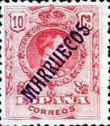 "[King Alfonso XIII - Spanish Postage Stamps Overprinted ""MARRUECOS"". See Also Spanish Post in Morocco, Typ A2]"