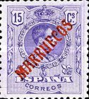 "[King Alfonso XIII - Spanish Postage Stamps Overprinted ""MARRUECOS"". See Also Spanish Post in Morocco, Typ A3]"
