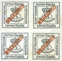 "[Newspaper Stamp - Spanish Postage Stamp Overprinted ""MARRUECOS"", type B1]"