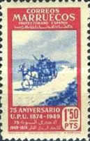 [The 75th Anniversary of the Universal Postal Untion, type EV1]
