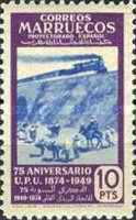 [The 75th Anniversary of the Universal Postal Untion, type EX]