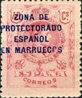 [Spanish Postage Stamps Overprinted