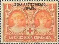 """[Red Cross - Not issued Spanish Stamps Overprinted """"ZONA PROTECTORADO ESPANOL"""", type P]"""