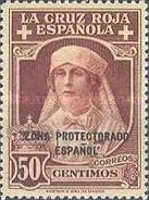 "[Red Cross - Not Issued Spanish Stamps Overprinted ""ZONE PROTECTORADO ESPANOL"", Typ Q1]"