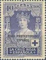 """[Red Cross - Not Issued Spanish Stamps Overprinted """"ZONE PROTECTORADO ESPANOL"""", type R1]"""