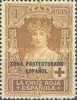 """[Red Cross - Not Issued Spanish Stamps Overprinted """"ZONE PROTECTORADO ESPANOL"""", type R2]"""