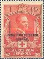 """[Red Cross - Not Issued Spanish Stamps Overprinted """"ZONE PROTECTORADO ESPANOL"""", type S2]"""