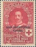 """[Red Cross - Not issued Spanish Stamps Overprinted """"ZONA PROTECTORADO ESPANOL"""", type T]"""