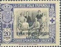 "[Red Cross - Not Issued Spanish Stamps Overprinted ""ZONE PROTECTORADO ESPANOL"", Typ U]"
