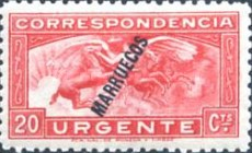 [Special Delivery - Spanish Postage Stamp Overprinted