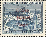 [Airmail - Spanish Postage Stamp Overprinted