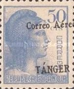 [Airmail - Spanish Postage Stamps Overprinted
