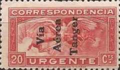 [Airmail - Spanish Special Delivery Stamp Overprinted