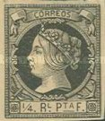 [Havanna Postage Stamp - Queen Isabella II of Spain, type E]