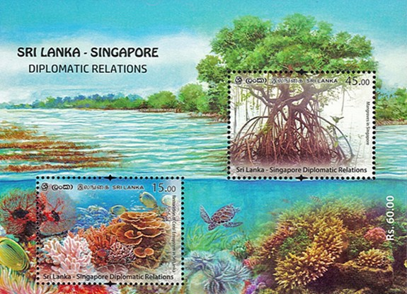 [The 50th Anniversary of Diplomatic Relations with Singapore - Joint Issue, type ]