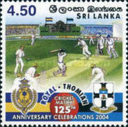 [The 125th Cricket Match between The Royal and S. Thomas Colleges, Typ ALD]