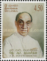 [The 98th Anniversary of the Birth of Junius Richard Jayewardene, First Executive President of Sri Lanka, 1906-1996, Typ ALZ]