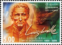 [World White Cane Day - The 200th Anniversary (2009) of the Birth of Louis Braille, 1809-1852, type AYI]