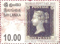 [World Post Day - The 175th Anniversary of the World's First Postage Stamp, One Penny Black, Typ BHI]