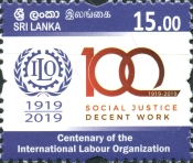 [The 100th Anniversary of the International Labour Organization, Typ BOS]