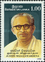 [Justin Wijayawardena, Scholar, Commemoration, 1904-1982, type QZ]
