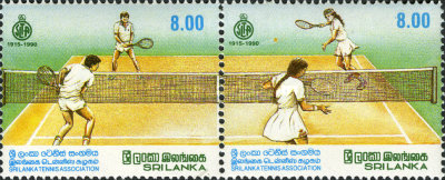 [The 75th Anniversary of Sri Lanka Tennis Association, type RZ]