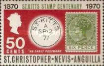 [The 100th Anniversary of St. Kitts Stamp, Typ DC]